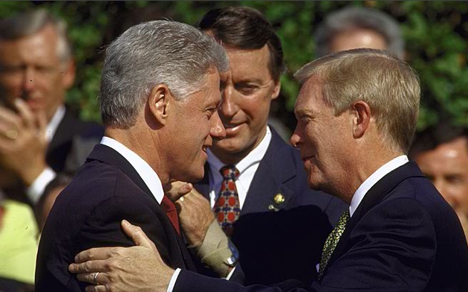 Dick Gephardt and Bill Clinton